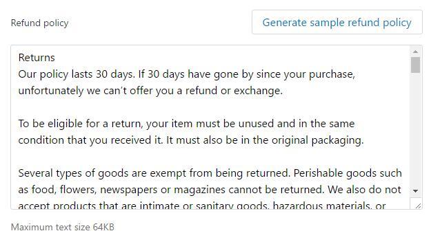 Shopify付款页面设置