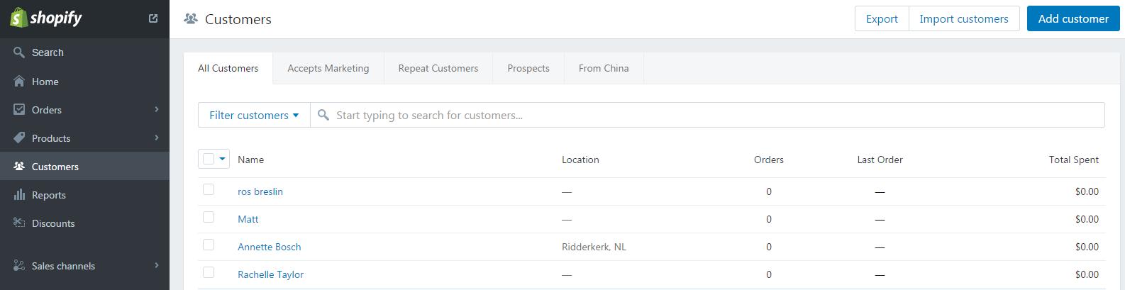 Shopify订单处理