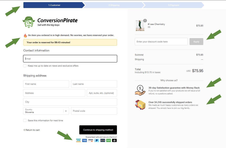 Shopify付款页面优化