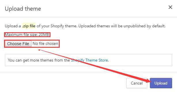 Shopify主题安装