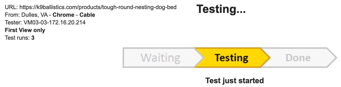 Webpagetest测试网站打开速度
